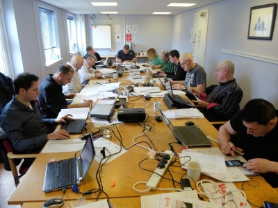 Delegates on the Fire Manager Module 1 course in Glasgow